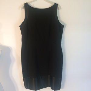 Plus 16W Amanda smith Black Lined Sleeveless Dress